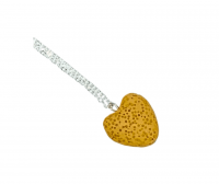 Aromatherapy Lava Heart Necklace - Yellow