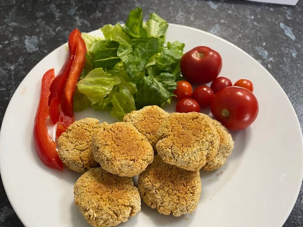 Baked Chickpea Nuggets